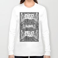 calligraphy Long Sleeve T-shirts featuring Calligraphy by Amy Gale