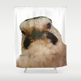 Geeky European Jay Vector Shower Curtain