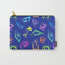 Surf Spiral Shapes in Neon Periwinkle Carry-All Pouch