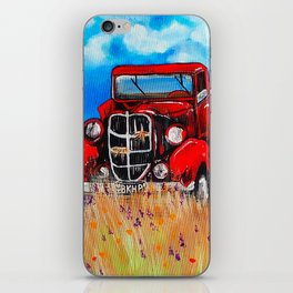 Uncle John's Old Truck Grandpa Red Work Truck Vintage Antique Farm Ranch Farmer Rancher Field iPhone Skin