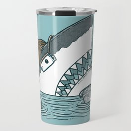 The Dad Shark Travel Mug