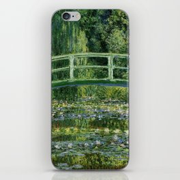 Water Lilies And The Japanese Bridge Claude Monet iPhone Skin