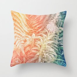 Fern and Fireweed 03 - Retro (everyday 07.01.2017) Throw Pillow