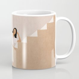 Girl Thinking on a Stairway Coffee Mug