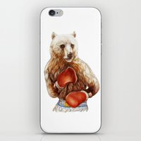 foo fighters iPhone & iPod Skins featuring Bear Fighters. by beart24
