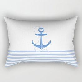 AFE Dark Blue Nautical Anchor Rectangular Pillow