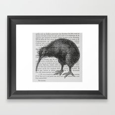 Curious Kiwi Framed Art Print