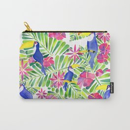 Tropical Toucans Watercolor Painting Carry-All Pouch