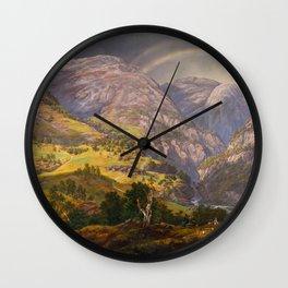 View from Stalheim (Fra Stalheim)  Wall Clock