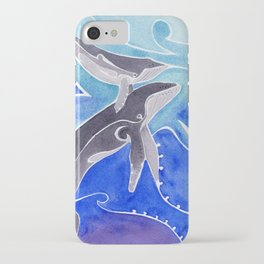 Polynesian humpback whale and calf iPhone Case