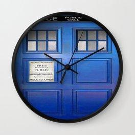 doctor who public box  Wall Clock