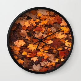 Fall Foliage Wall Clock