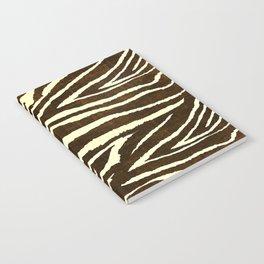 Animal Print Zebra in Winter Brown and Beige Notebook