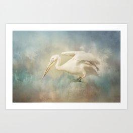 Fly Pelican Art Print