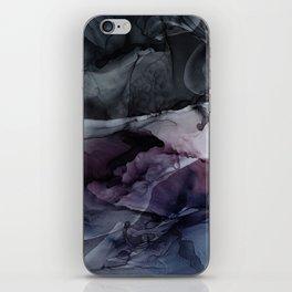Moody Dark Chaos Inks Abstract iPhone Skin