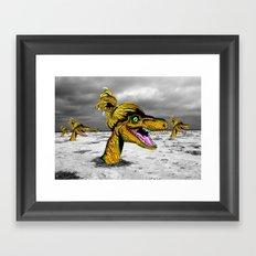 Velociraptor Dreamscape Framed Art Print
