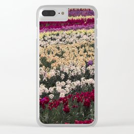 Lompoc Flower Farm Clear iPhone Case