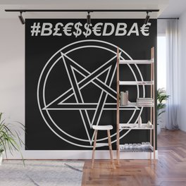 TRULY #BLESSEDBAE INVERTED Wall Mural