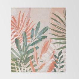 Tropical Leaves 4 Throw Blanket