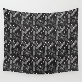 Dragonfly White and black Wall Tapestry
