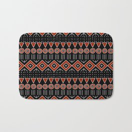 Mudcloth Style 2 in Black and Red Bath Mat