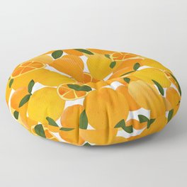 mediterranean oranges still life  Floor Pillow
