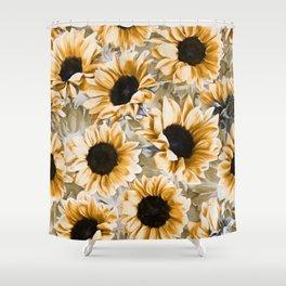 Dreamy Autumn Sunflowers Shower Curtain