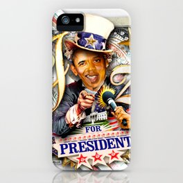 Jay-Z for President Hip Hop the Vote! iPhone Case