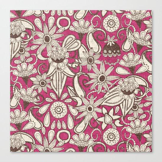 sarilmak pink brown Canvas Print