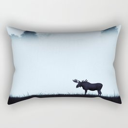 The moose - minimalist landscape Rectangular Pillow