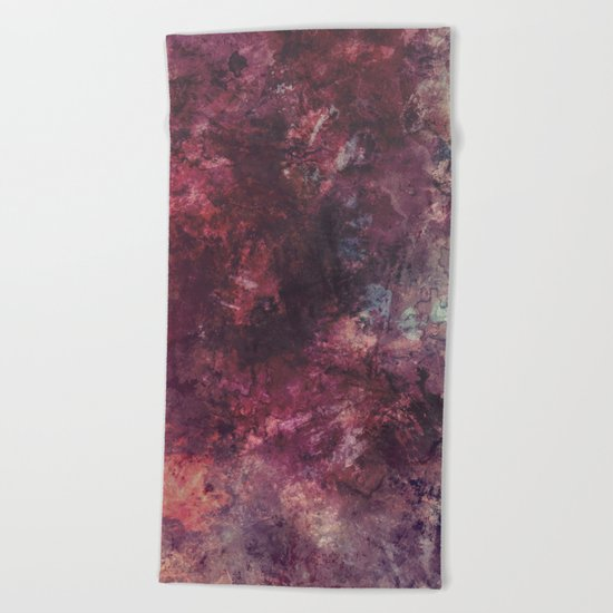 acrylic grunge Beach Towel