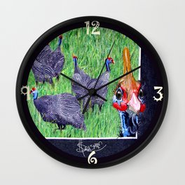 Oi them's my girls, 'ands Orf! Wall Clock