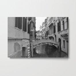 Bridge Over Canal - Venice, Italy Metal Print