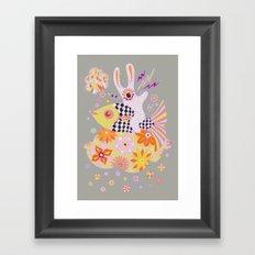 Fish Rider Framed Art Print