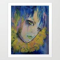 indigo Art Prints featuring Indigo by Michael Creese