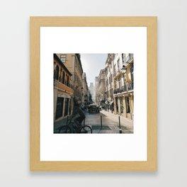 cicling in lisbon Framed Art Print