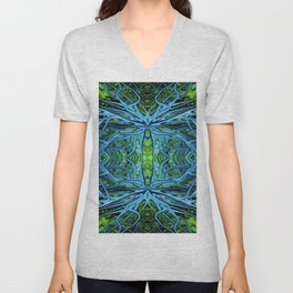 Emerald Electrigrass by Chris Sparks Unisex V-Neck