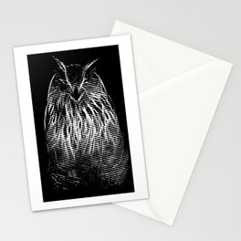 The smile of Mr. Owl Stationery Cards