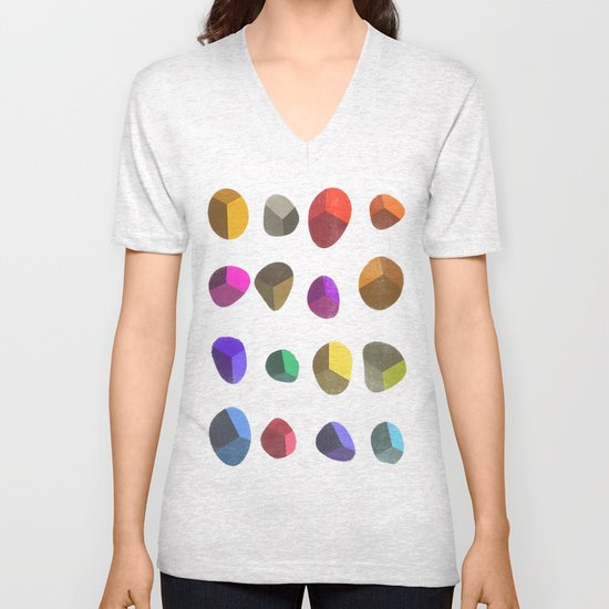 Painted Pebbles 2 Unisex V-Neck