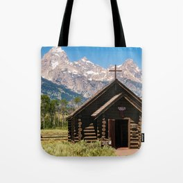 Grand Teton Chapel Of The Transfiguration Tote Bag