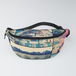 London Collage Fanny Pack