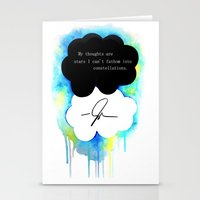 the fault in our stars Stationery Cards featuring The Fault in Our Stars by Awful Artist