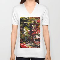 acid V-neck T-shirts featuring Acid by Jordan Luckow