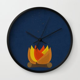 Camping Series: fire Wall Clock