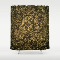damask Shower Curtains featuring Decorative damask by nicky2342