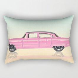 50s Pink Classic Car Rectangular Pillow