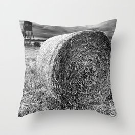 Straw bales Throw Pillow