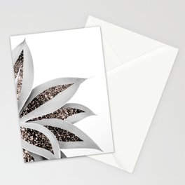 Agave Finesse Glitter Glam #1 #tropical #decor #art #society6 Stationery Cards