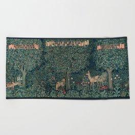 William Morris Greenery Tapestry Beach Towel