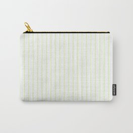 Pale Cucumber Pin Stripe on White Carry-All Pouch